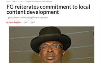 FG Reiterates Commitment to Local Content Development