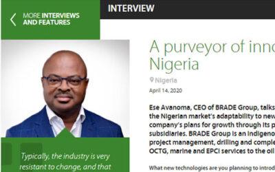 A purveyor of Innovation in Nigeria