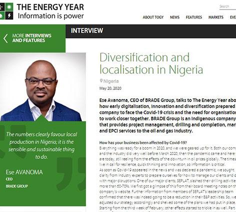 Diversification and Localization in Nigeria